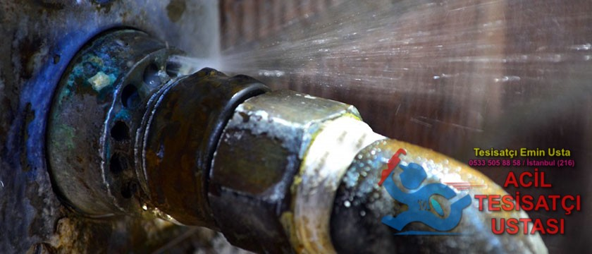 Su borusu su sızıntısı su tesisatı su kaçağı tamiri